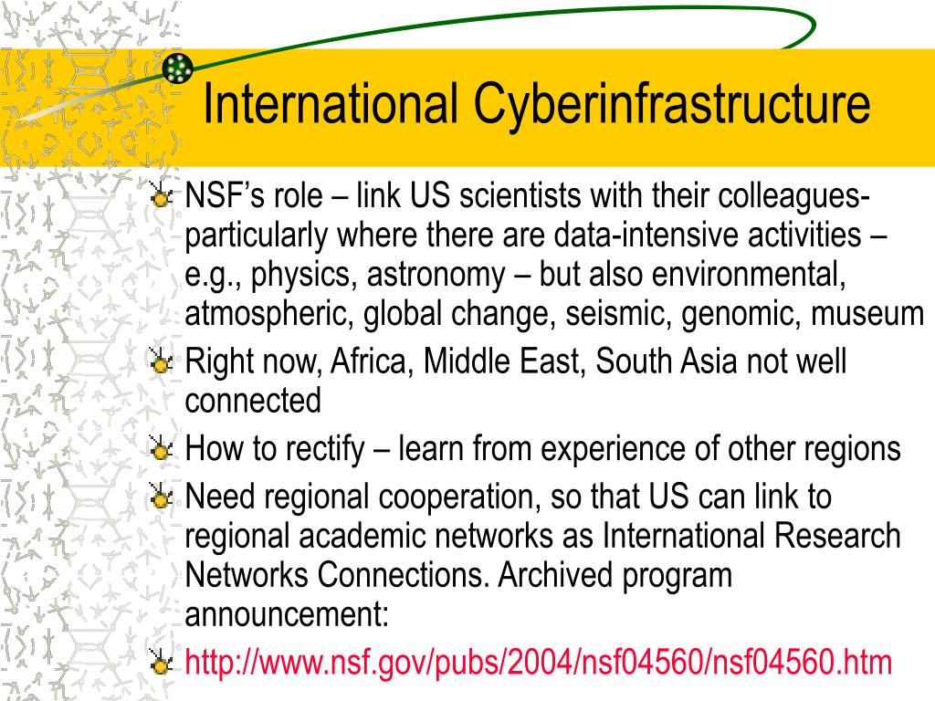 International Cyberinfrastructure