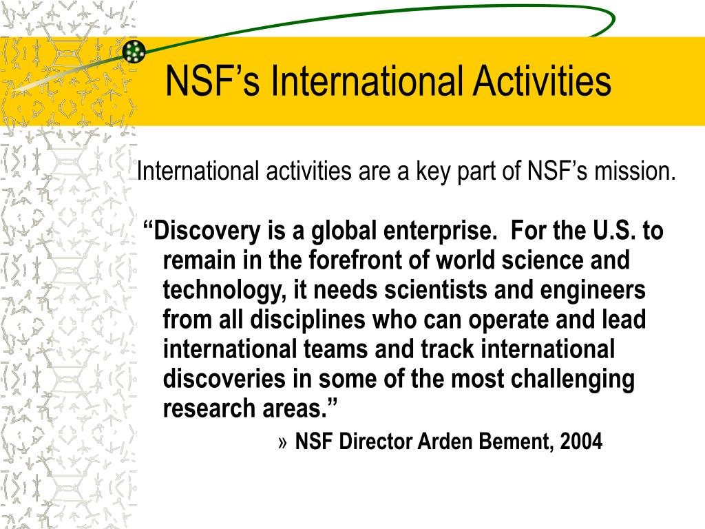 NSF's International Activities