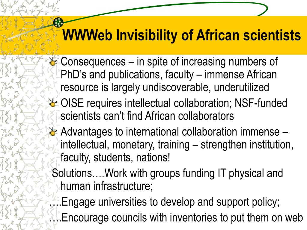 WWWeb Invisibility of African scientists