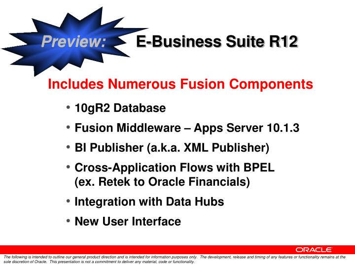 Preview e business suite r12