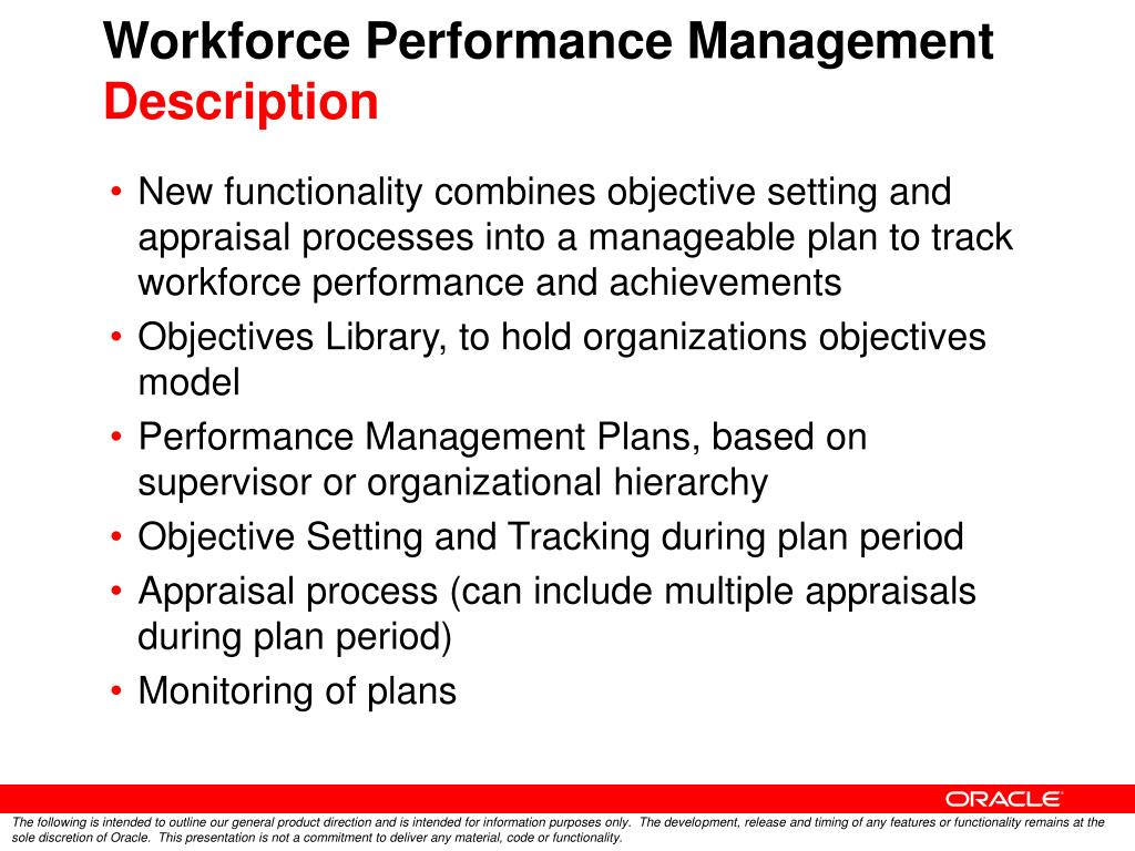 Workforce Performance Management