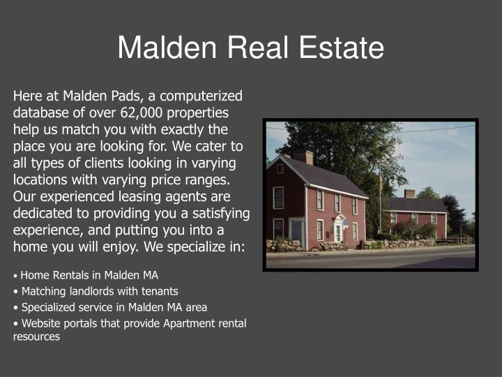 Malden real estate