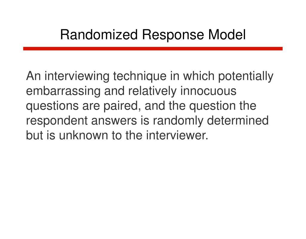 Randomized Response Model