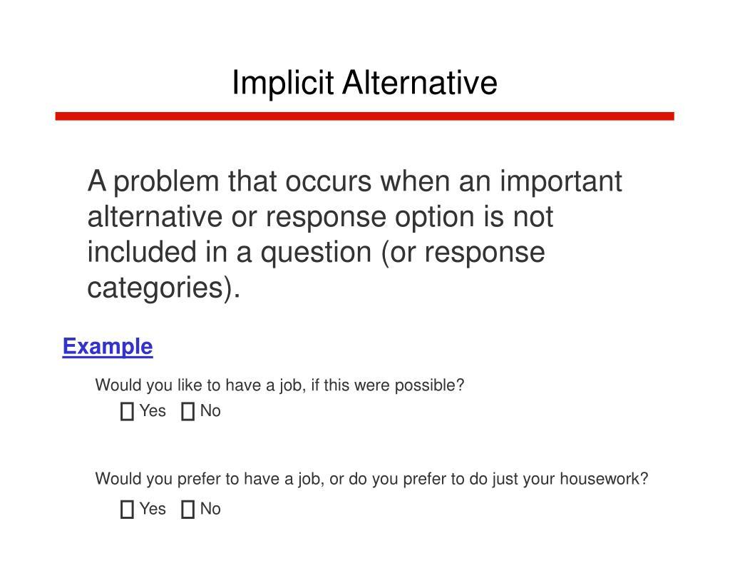 Implicit Alternative