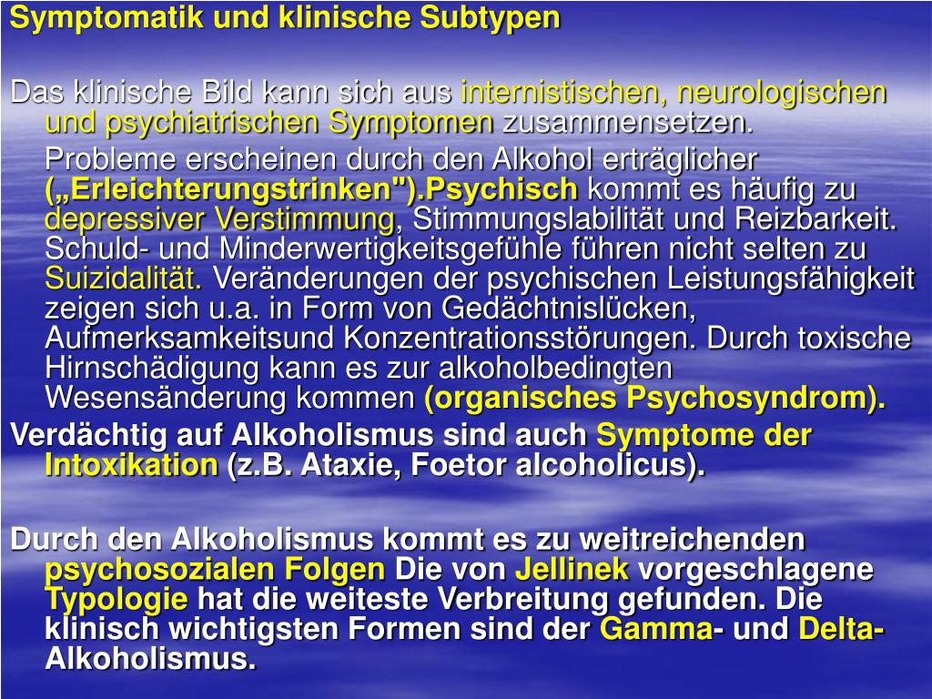 Der Alkoholismus die Behandlung der Klinik in tweri