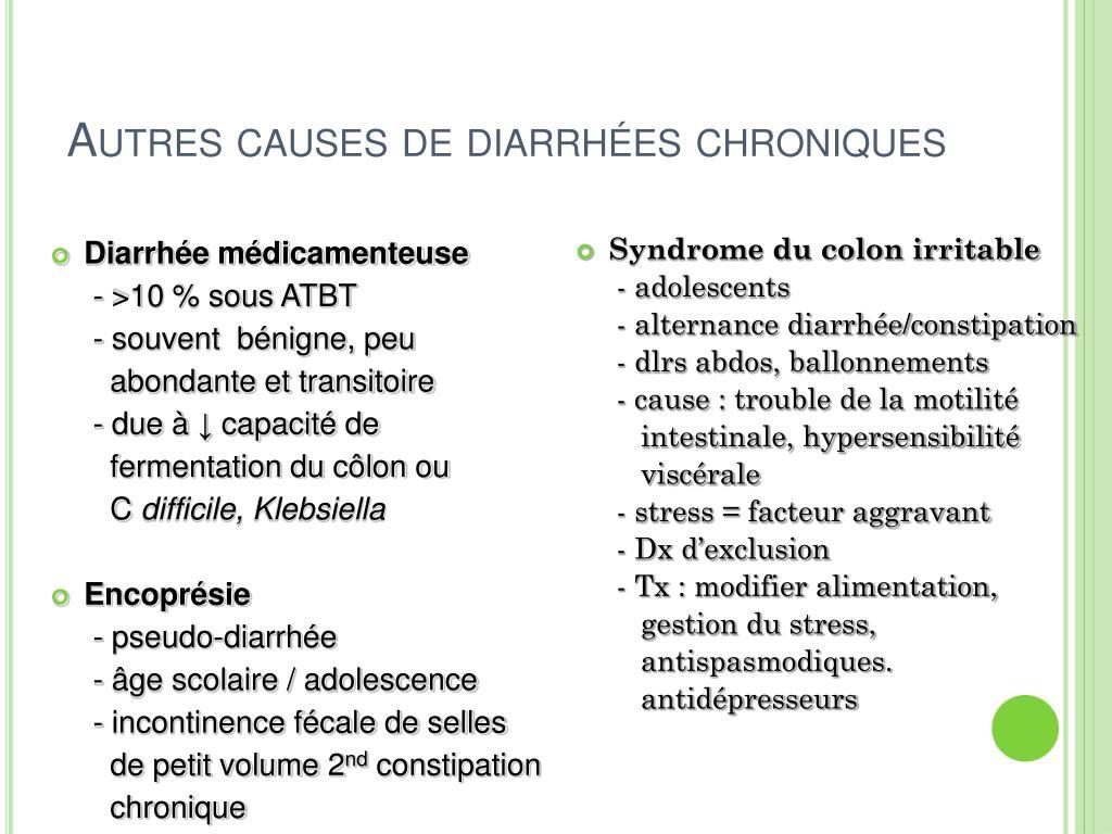 Autres causes de diarrhées chroniques