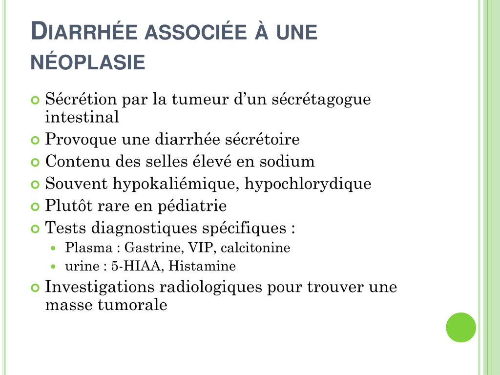 Diarrhée associée à une néoplasie