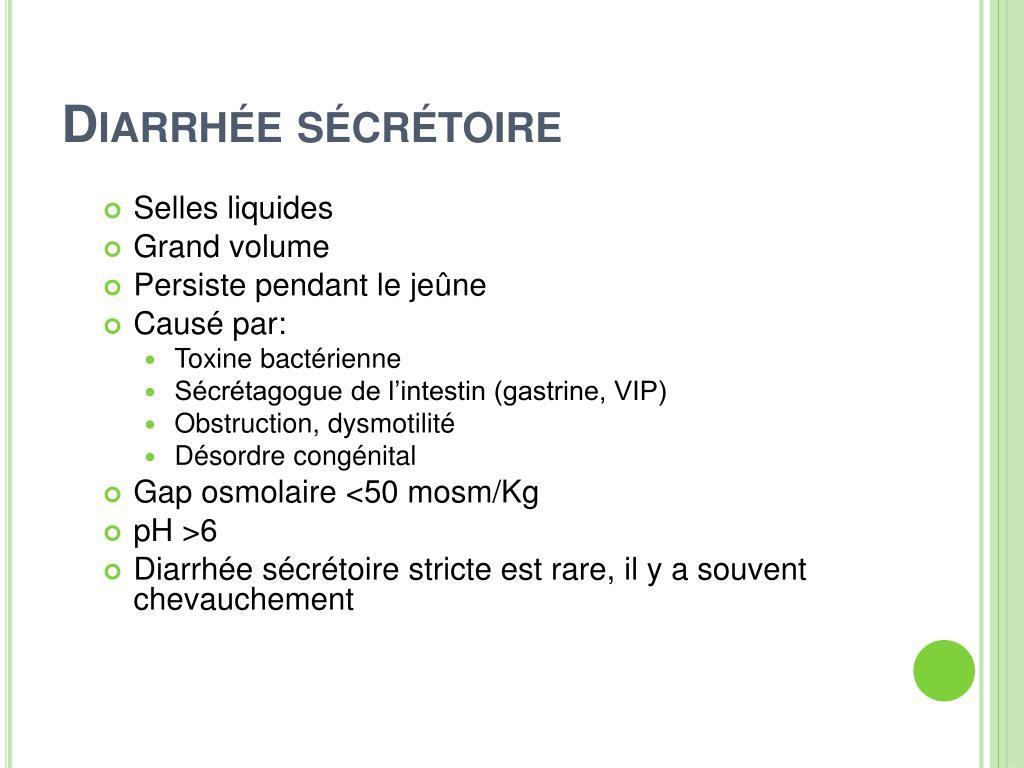 Diarrhée sécrétoire
