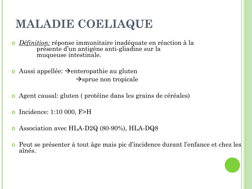 MALADIE COELIAQUE