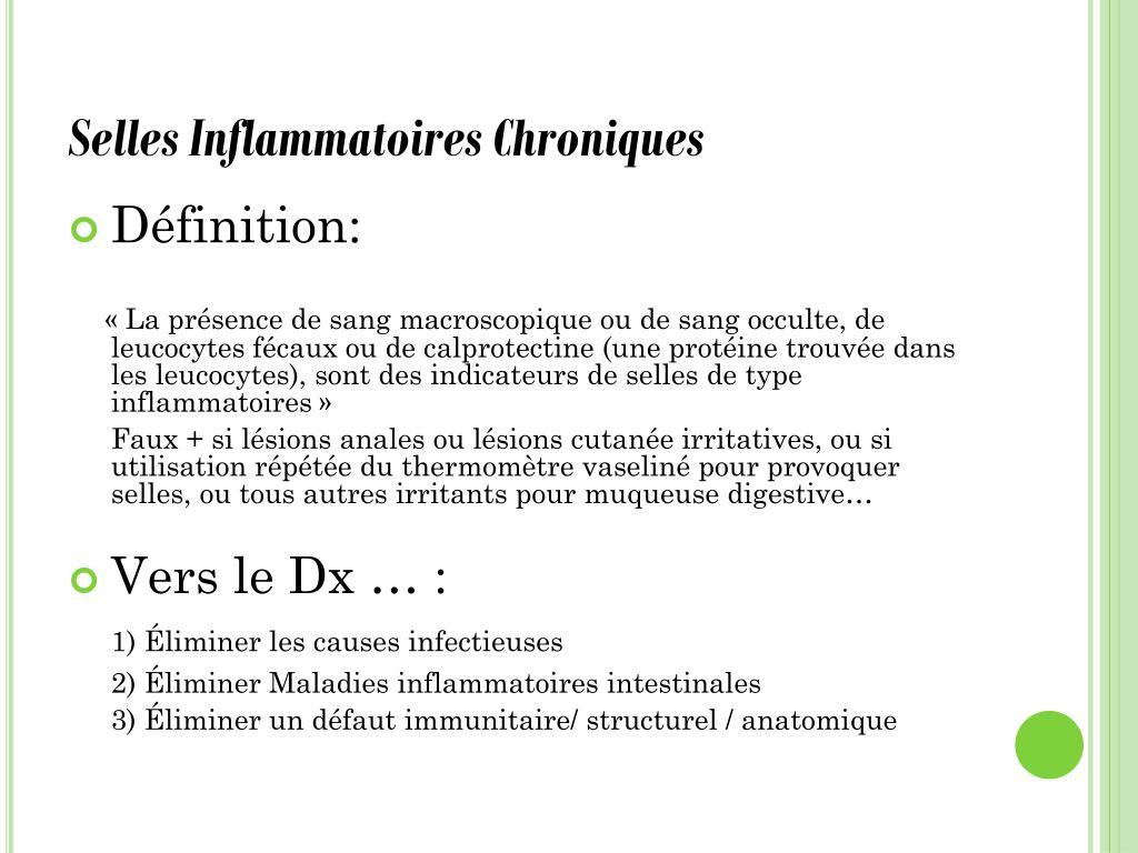 Selles Inflammatoires Chroniques