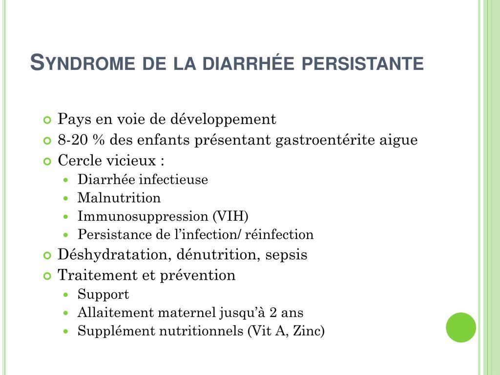 Syndrome de la diarrhée persistante