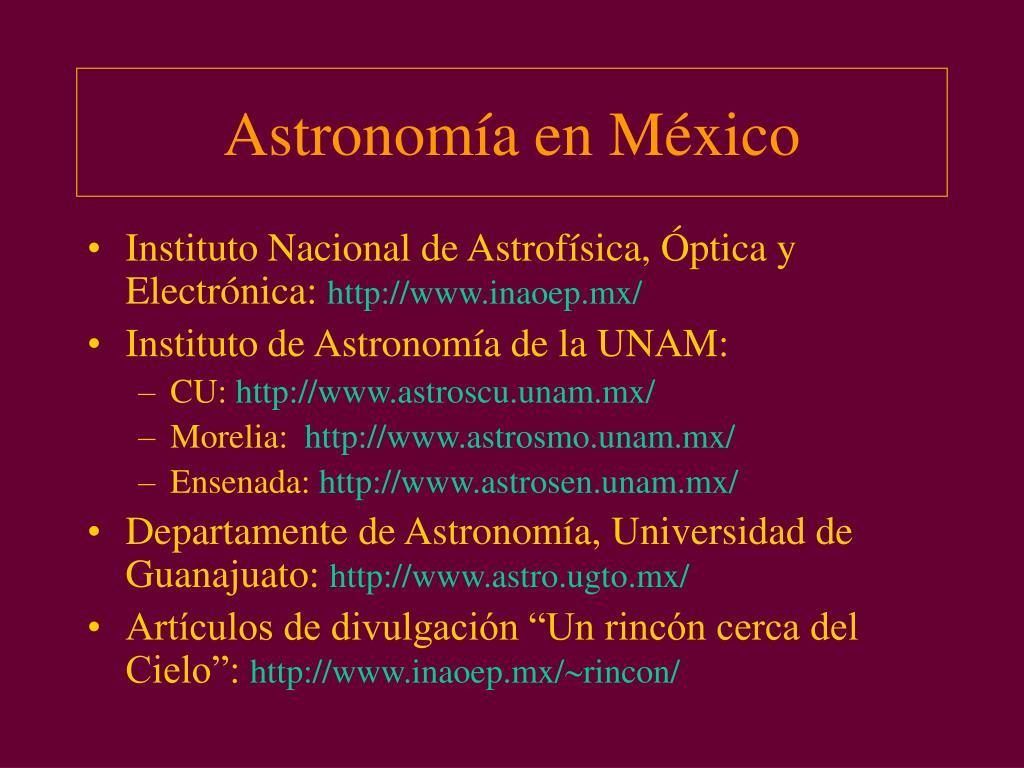 Astronomía en México