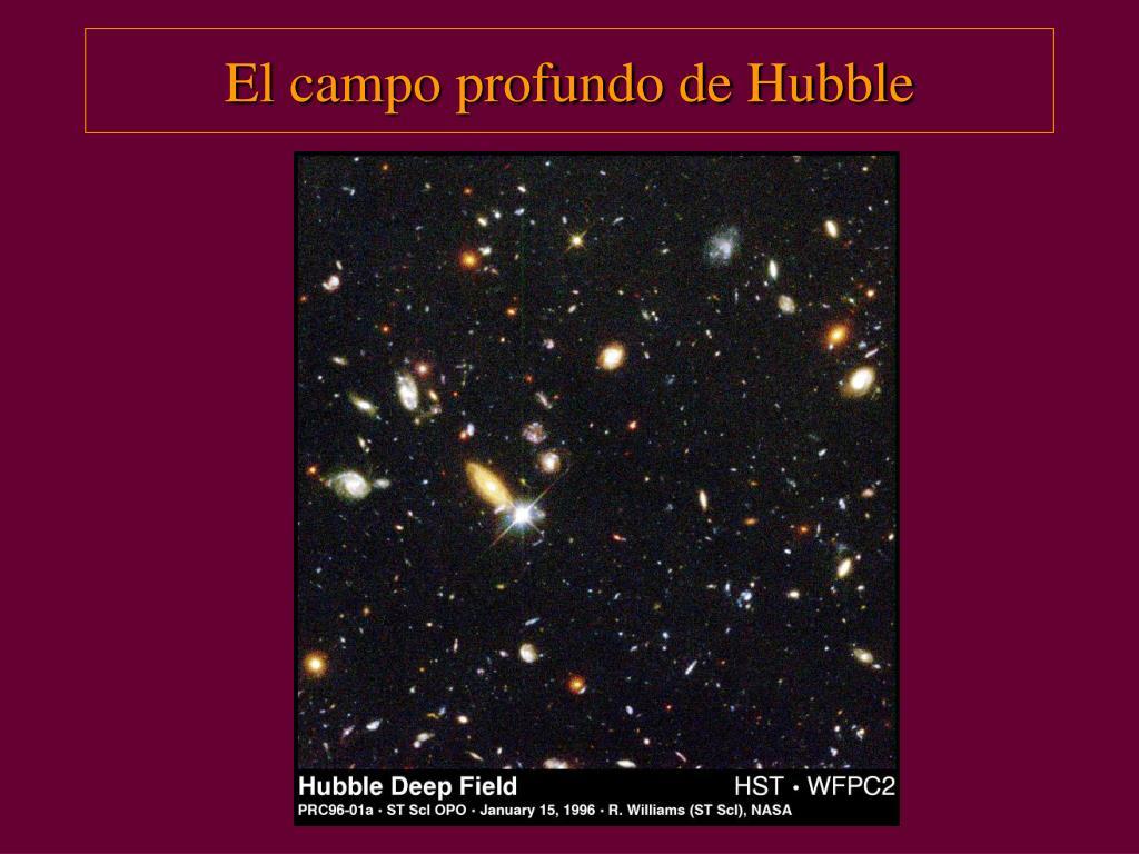 El campo profundo de Hubble