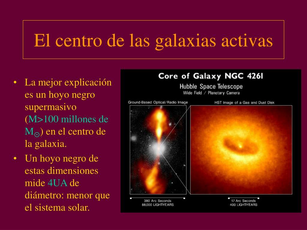 El centro de las galaxias activas