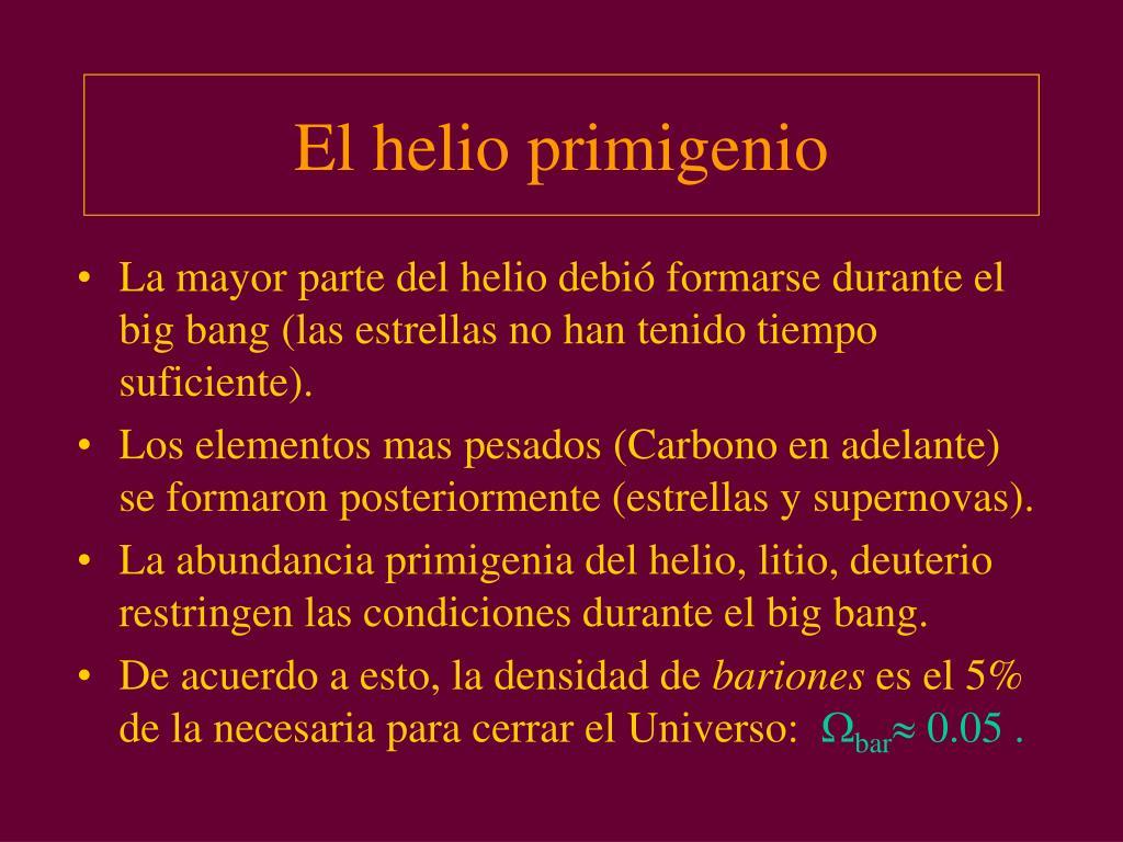 El helio primigenio
