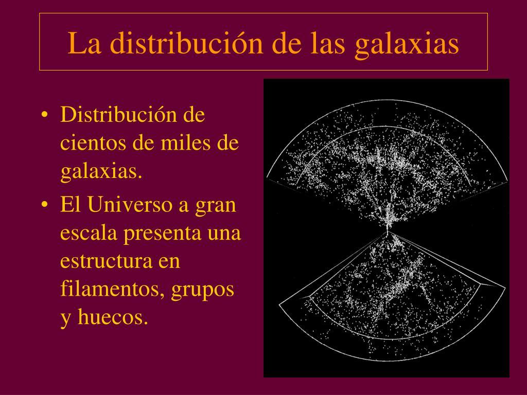 La distribución de las galaxias
