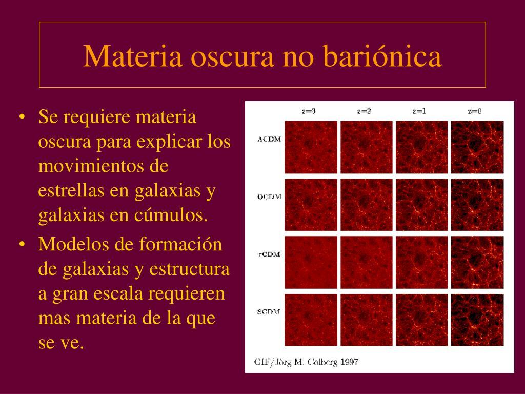 Materia oscura no bariónica