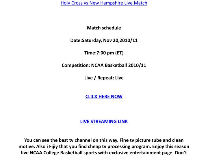 Watch Holy Cross