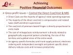 achieving positive financial outcomes33