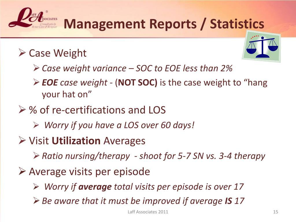 Management Reports / Statistics