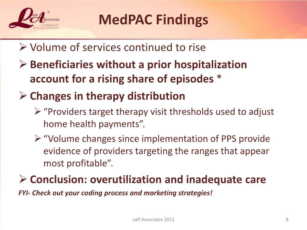 MedPAC Findings