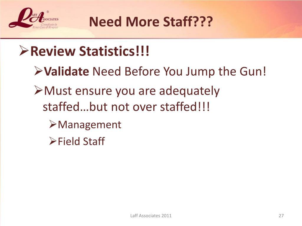 Need More Staff???