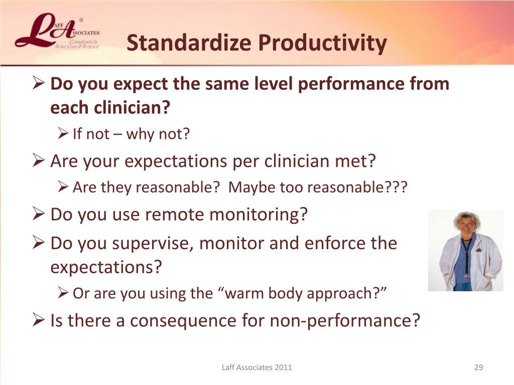 Standardize Productivity