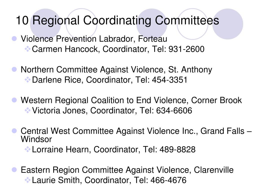 10 Regional Coordinating Committees