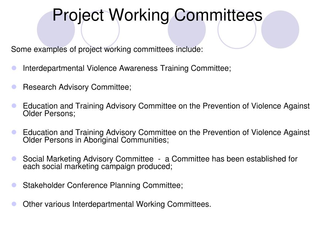 Project Working Committees