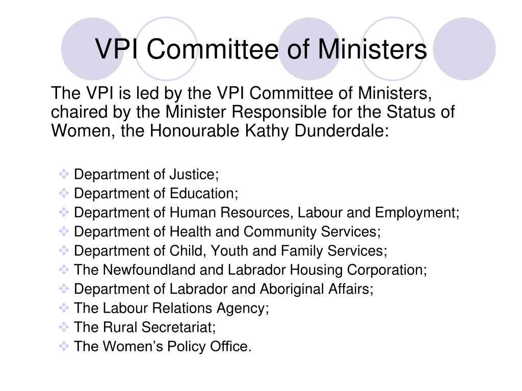 VPI Committee of Ministers