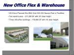 new office flex warehouse