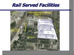 rail served facilities