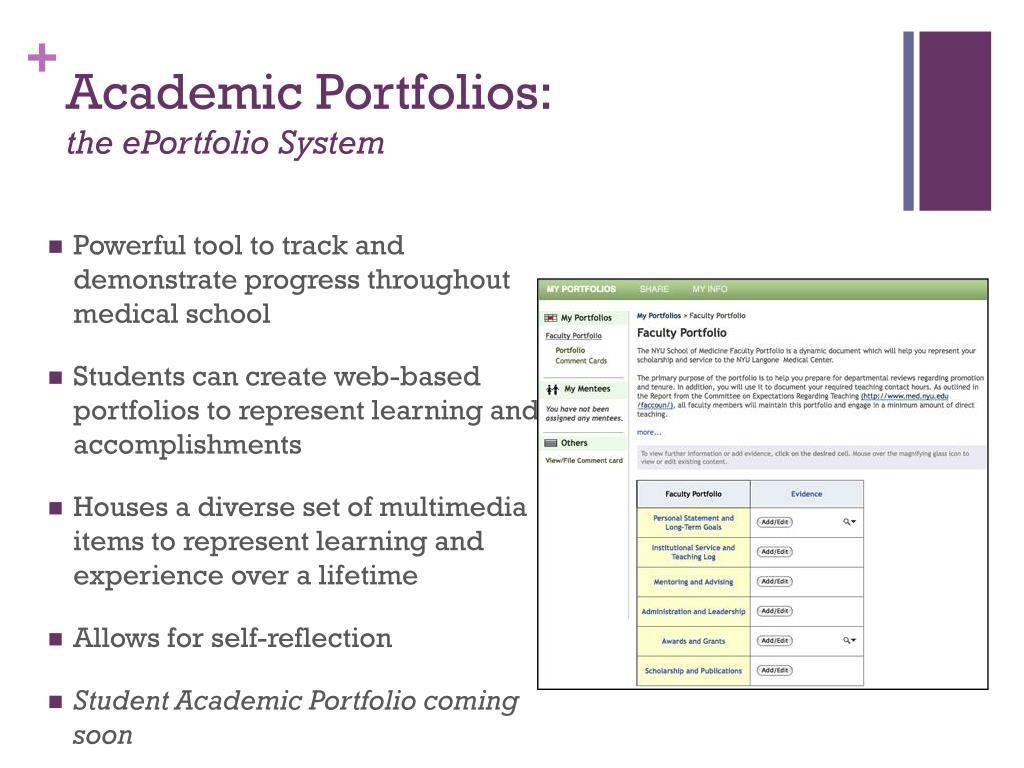 Academic Portfolios: