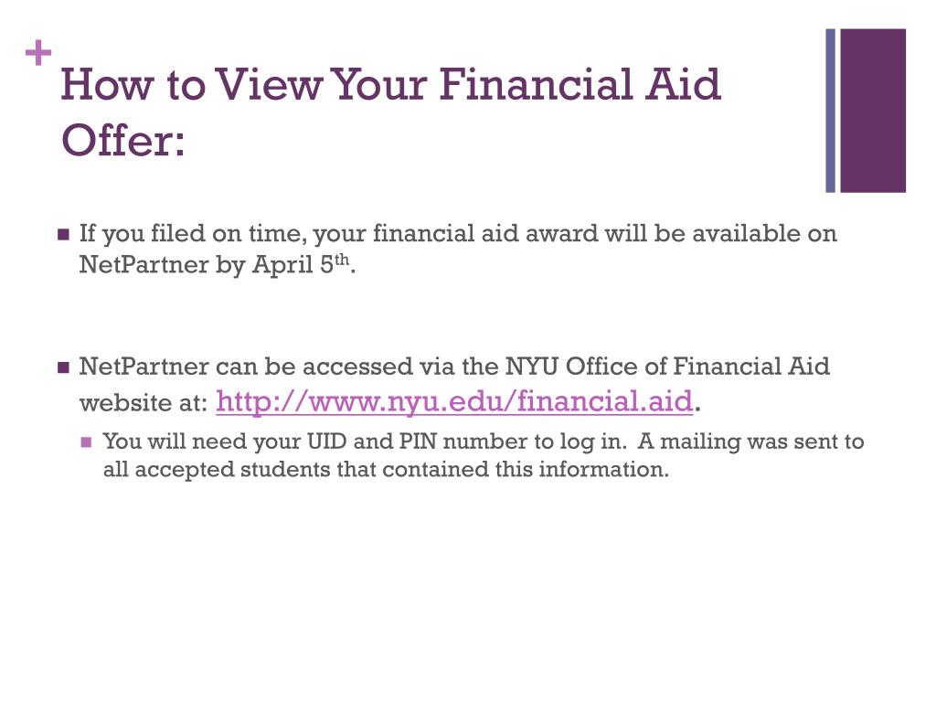 How to View Your Financial Aid Offer: