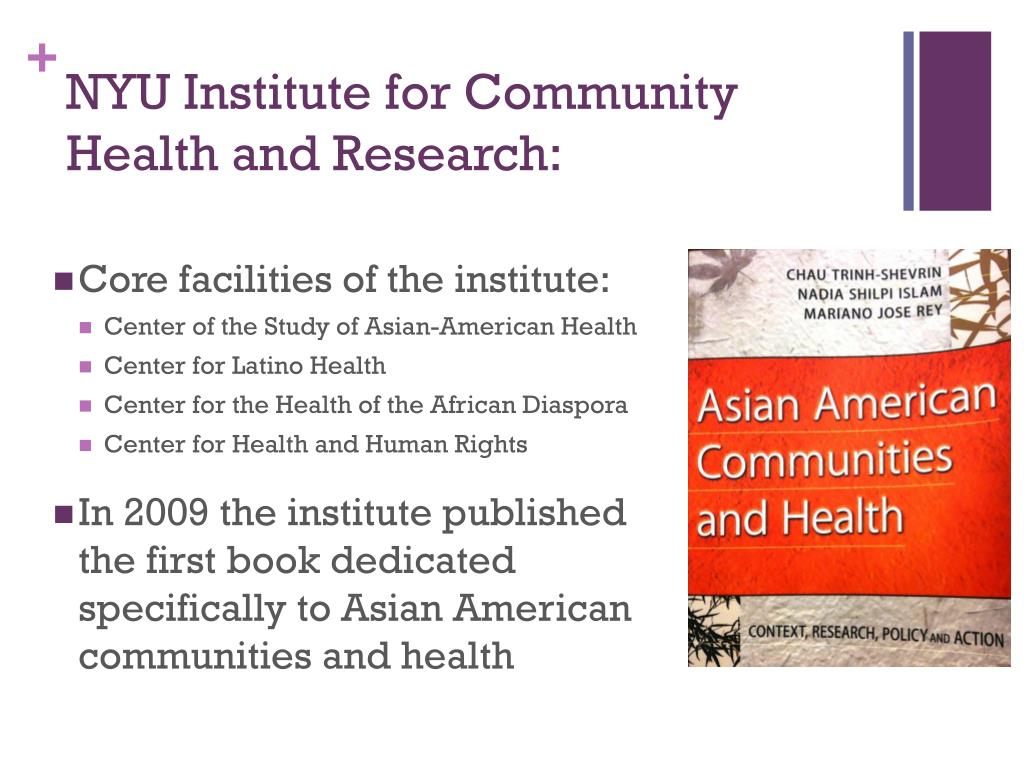 NYU Institute for Community Health and Research: