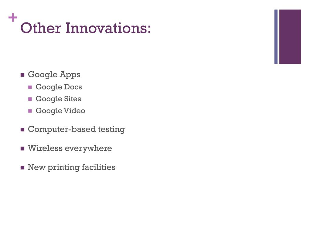 Other Innovations: