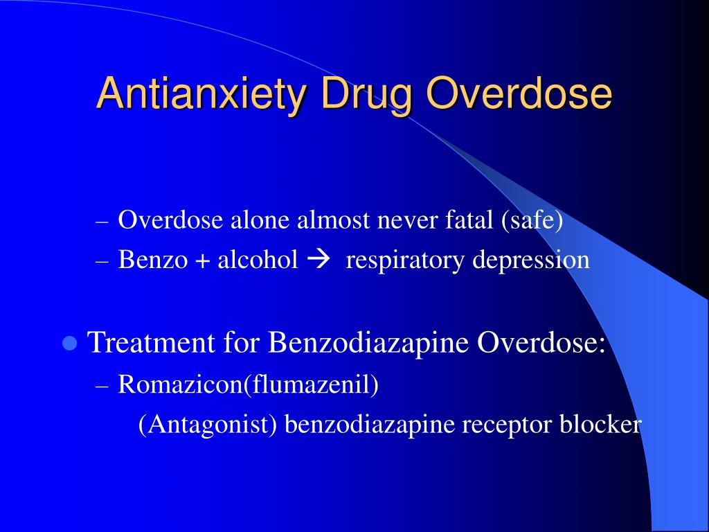 Antianxiety Drug Overdose