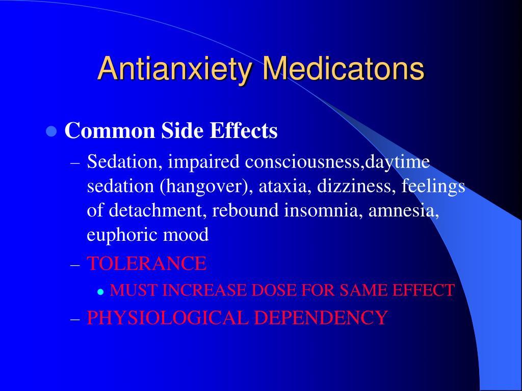 Antianxiety Medicatons
