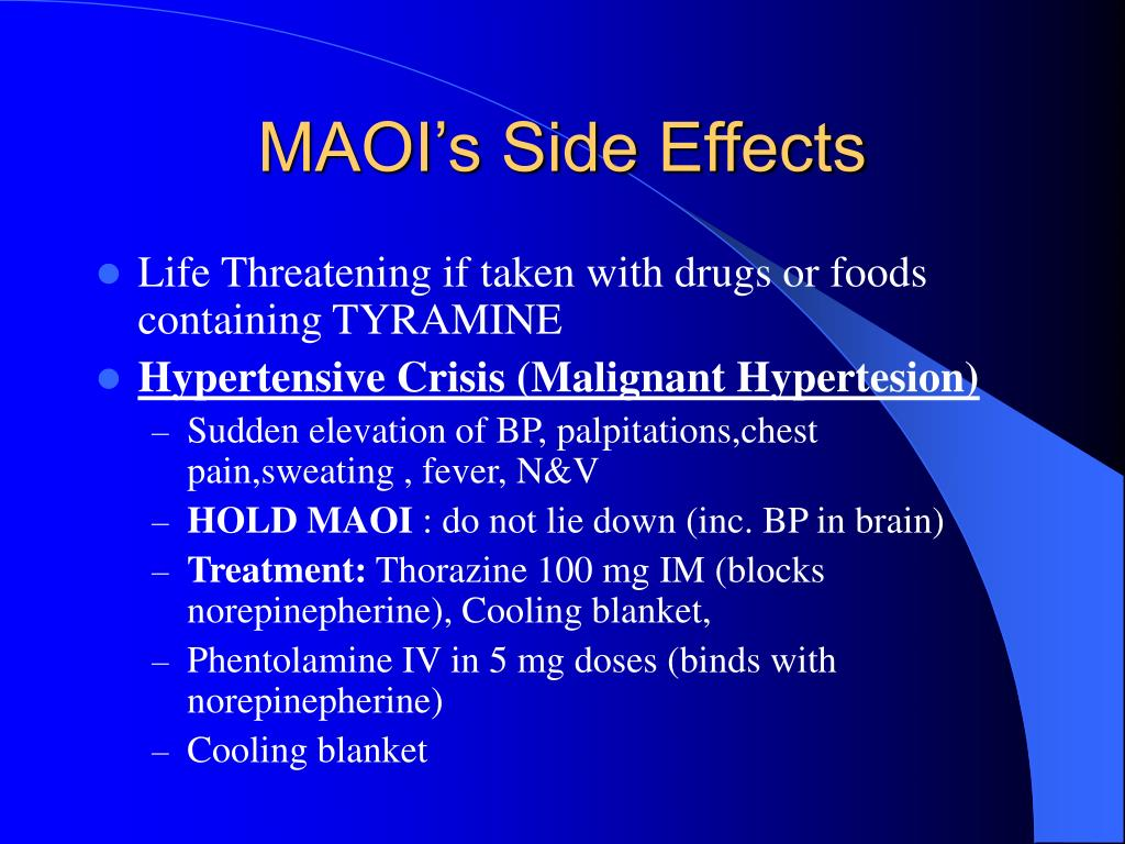 MAOI's Side Effects