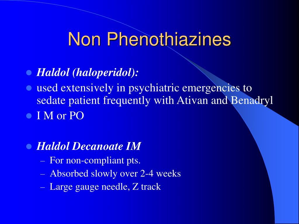 Non Phenothiazines