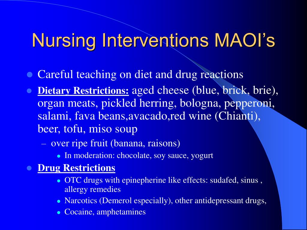 Nursing Interventions MAOI's