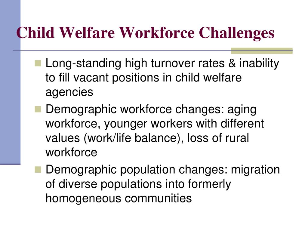 Child Welfare Workforce Challenges