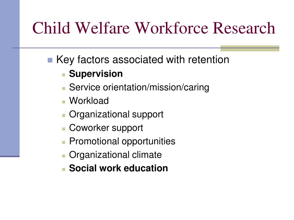Child Welfare Workforce Research