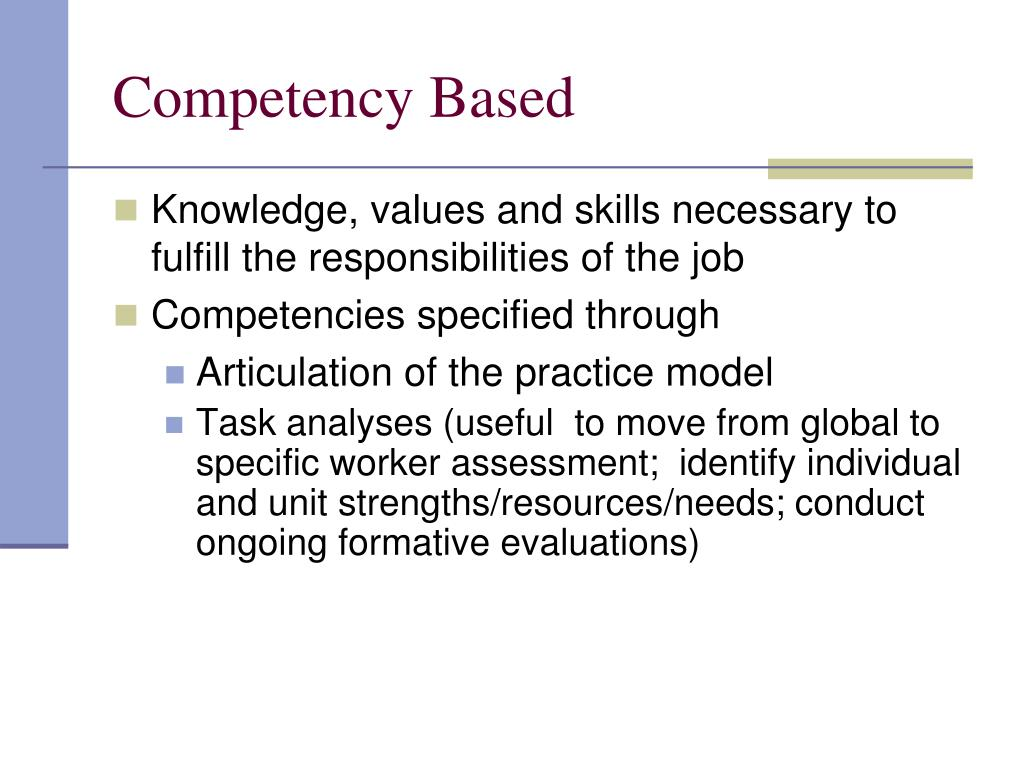 Competency Based