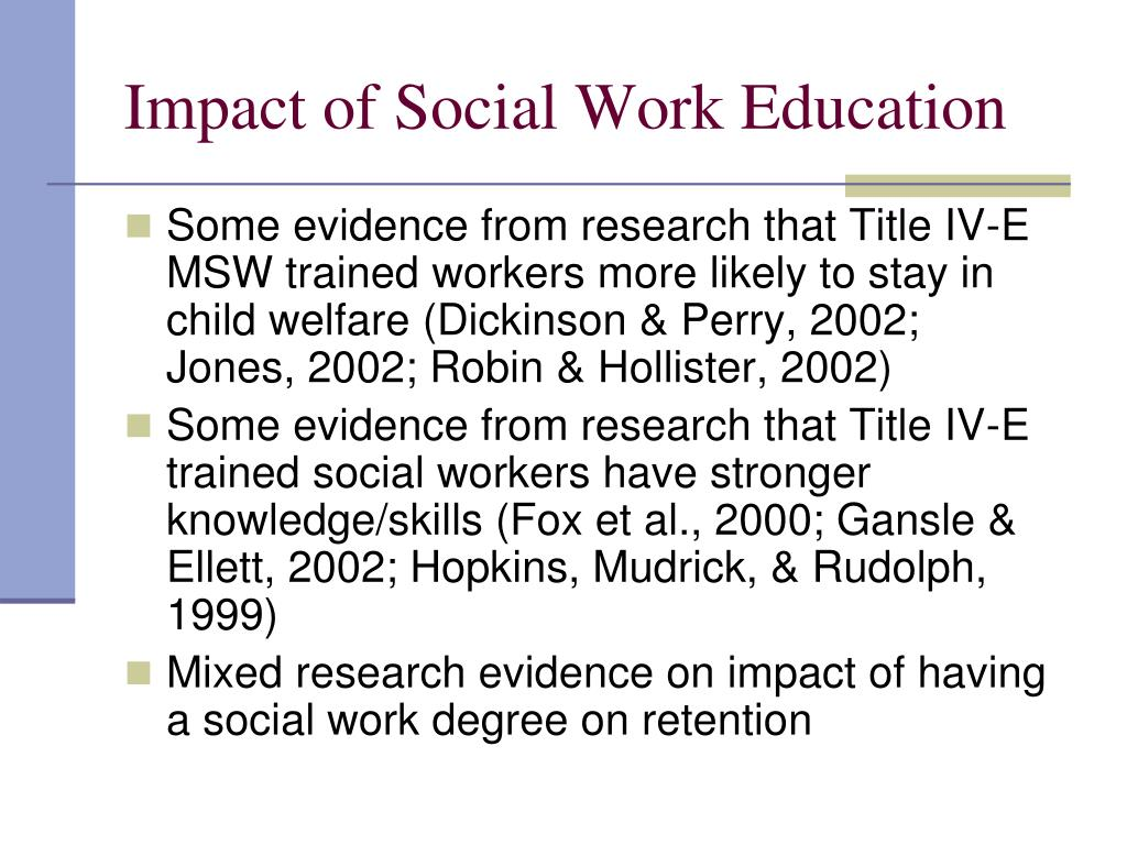Impact of Social Work Education