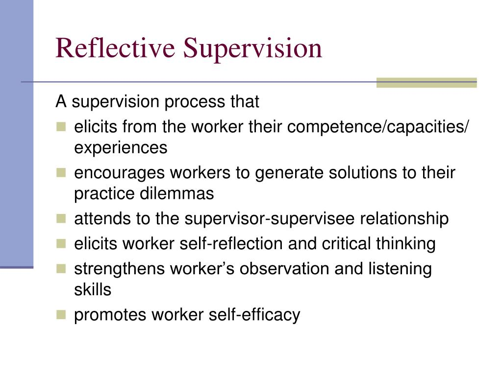 Reflective Supervision