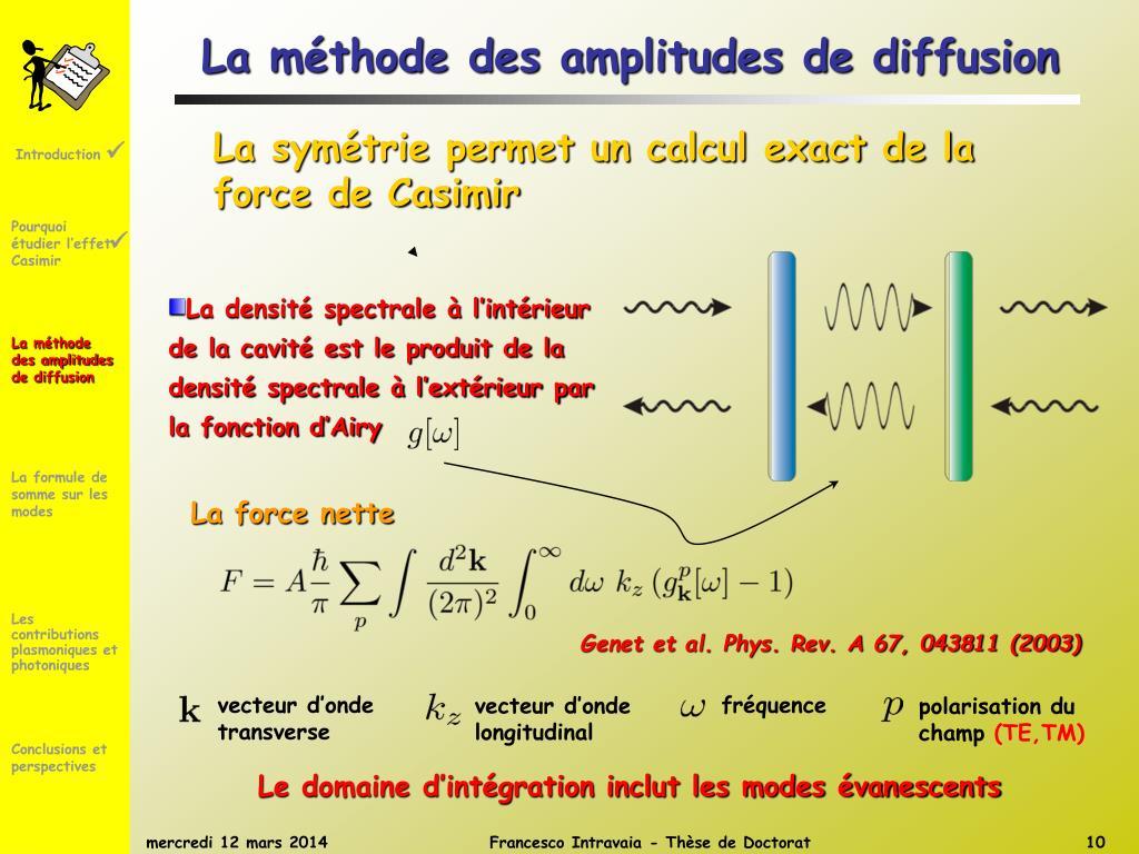 La méthode des amplitudes de diffusion