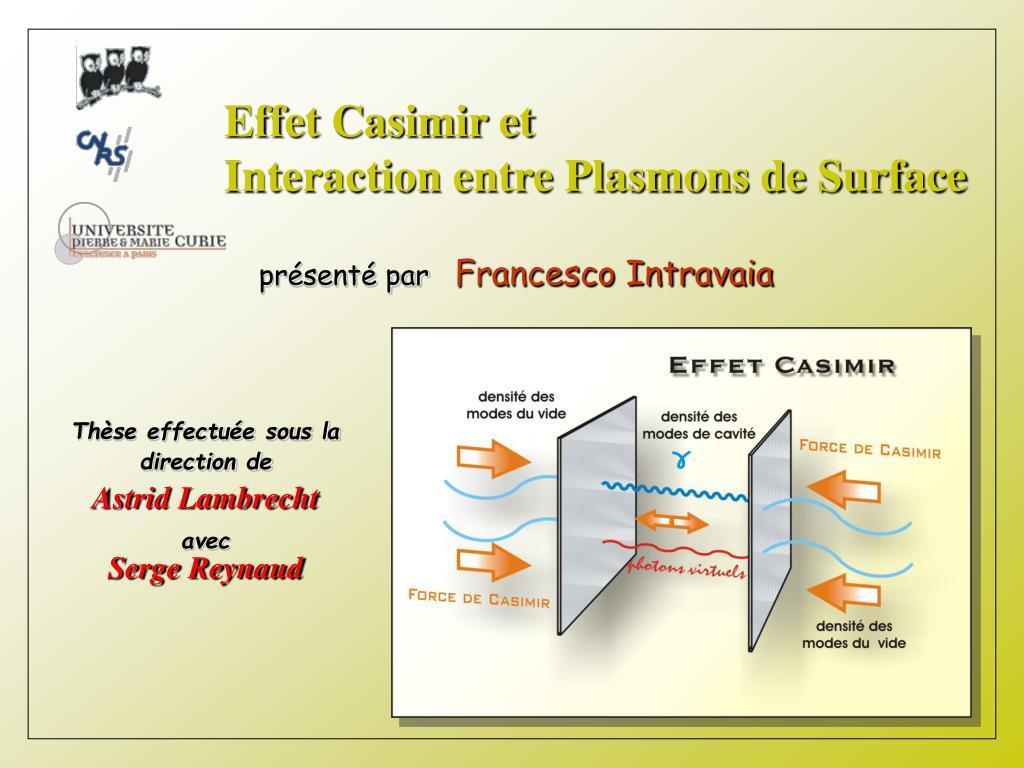 Effet Casimir et