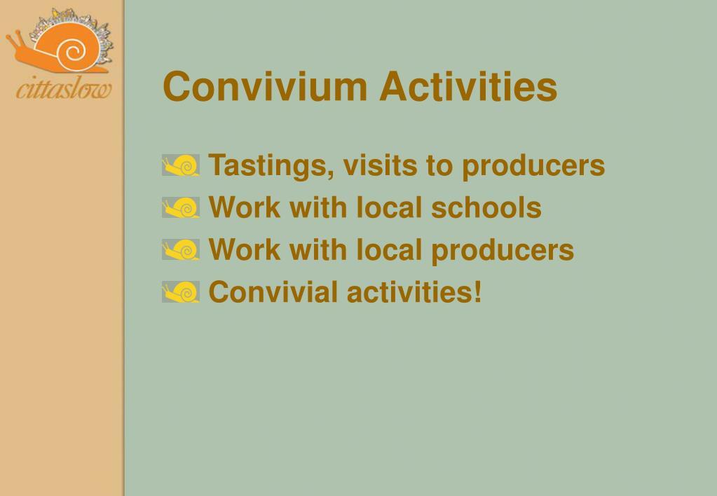 Convivium Activities
