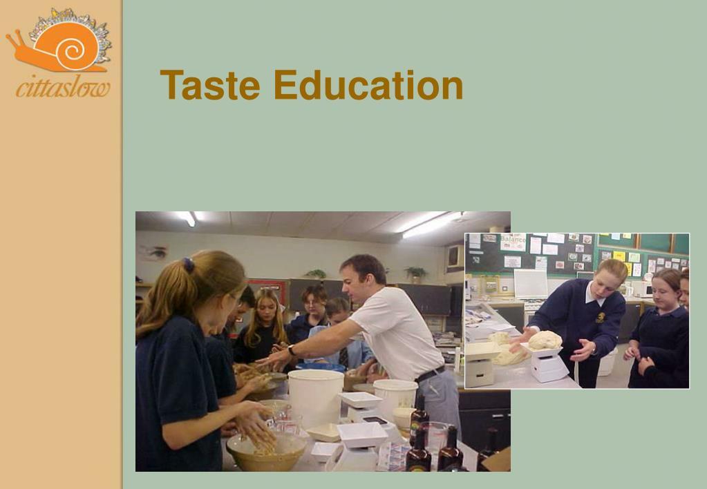 Taste Education